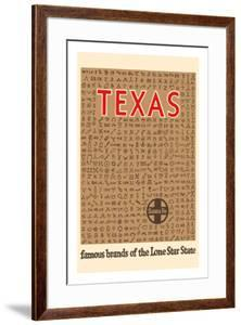 Texas - Famous Cattle Brands of the Lone Star State - Santa Fe Railroad by Pacifica Island Art