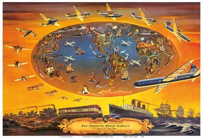 The Progress of Transportation - Pan American World Airlines Air Routes