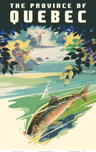 The Province of Québec - Trout Fishing by Pacifica Island Art