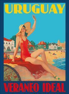 Uruguay - Ideal Summer (Veraneo Idéal) - Montevideo Beach Bathing Beauty by Pacifica Island Art