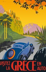 Visit Greece by Car -Automobile and Touring Club of Greece by Pacifica Island Art