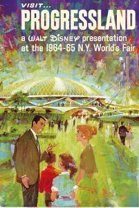 Visit Walt Disney's Progressland - 1964 New York World's Fair by Pacifica Island Art