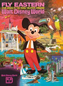 Walt Disney World - Fly Eastern Airlines - Orlando, Florida by Pacifica Island Art