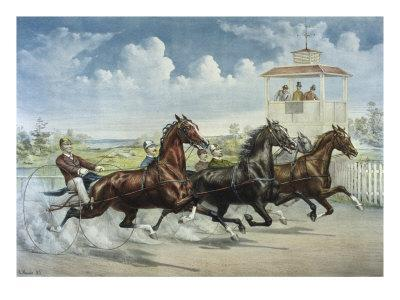 Pacing for a Grand Purse-Currier & Ives-Giclee Print