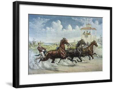 Pacing for a Grand Purse-Currier & Ives-Framed Giclee Print