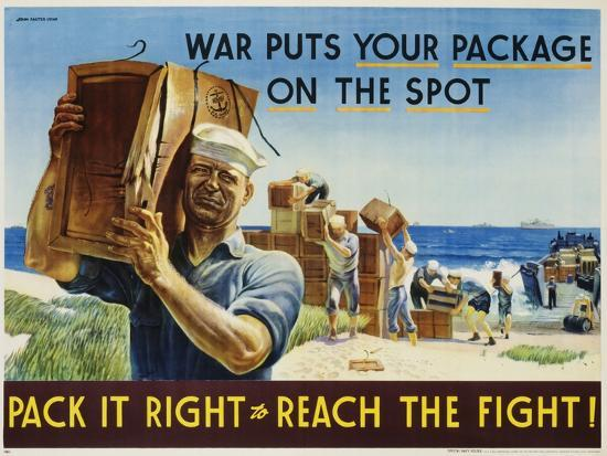 Pack it Right to Reach the Fight! Poster-John Falter-Photographic Print