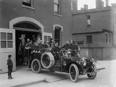Packard Fire Squad, 1911--Photographic Print