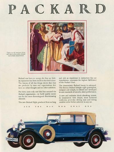 Packard, Magazine Advertisement, USA, 1929--Giclee Print