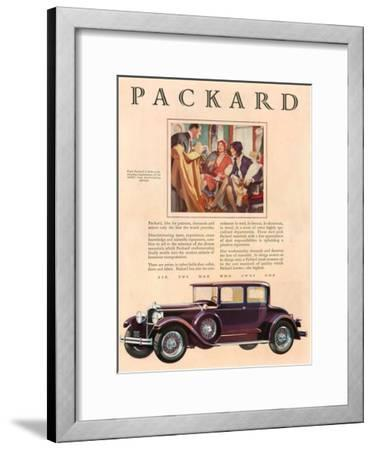 Packard, Magazine Advertisement, USA, 1929