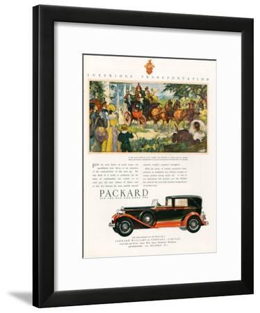 Packard, Magazine Advertisement, USA, 1930