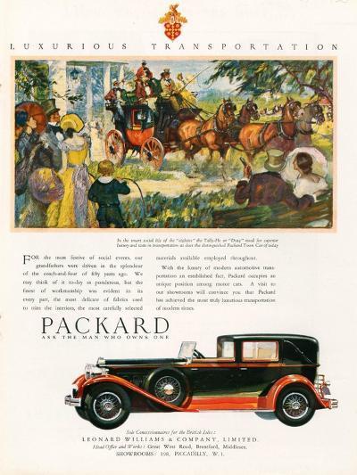 Packard, Magazine Advertisement, USA, 1930--Giclee Print