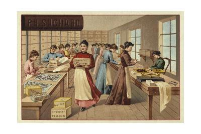 Packing Chocolates in a Factory--Giclee Print