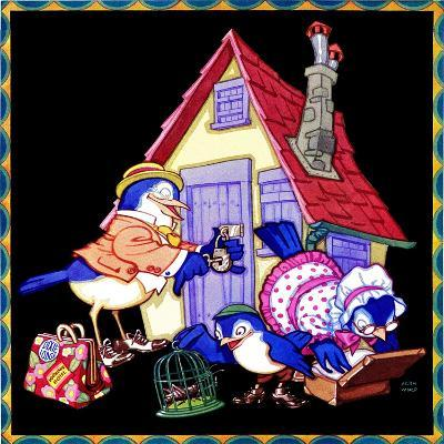 Packing Up to Head Home - Child Life-Keith Ward-Giclee Print