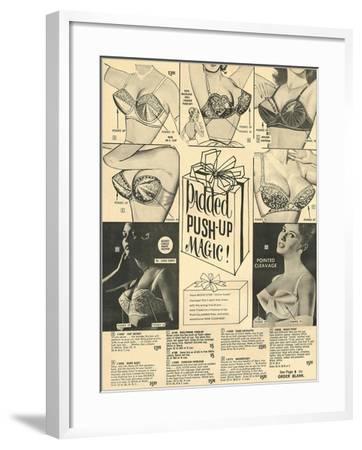 Padded Push-Up Brassieres--Framed Art Print