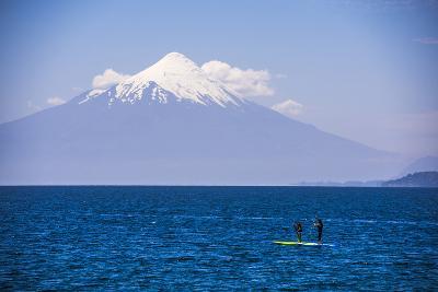 Paddleboarding on Llanquihue Lake-Matthew Williams-Ellis-Photographic Print