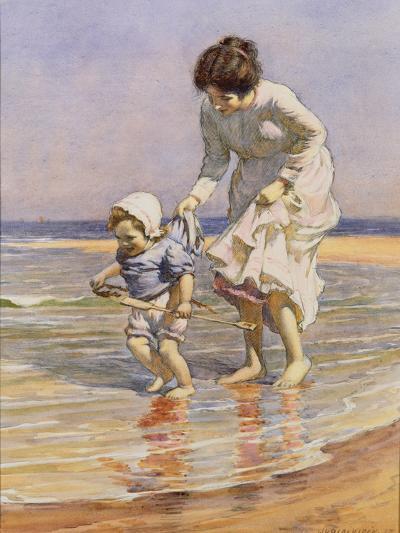 Paddling, 1915-William Kay Blacklock-Giclee Print