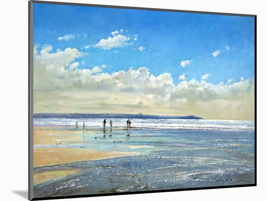 Paddling at the Edge-Timothy Easton-Mounted Photographic Print