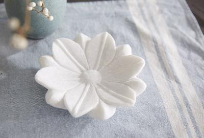 Padma Lotus Marble Tray - Small--Home Accessories