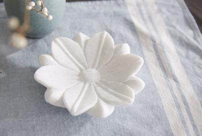 Padma Lotus Marble Tray - Small