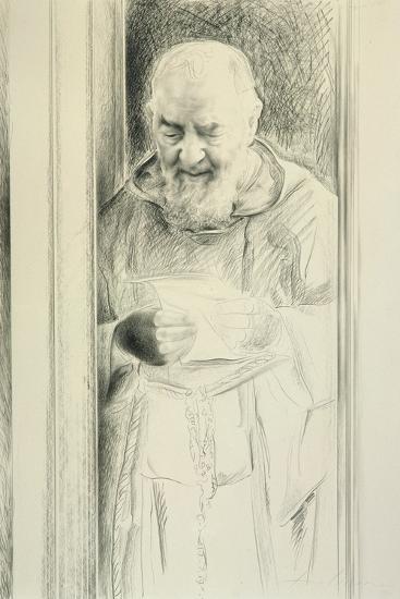 Padre Pio, 1988-89-Antonio Ciccone-Giclee Print