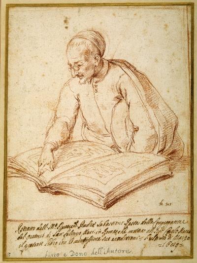 Padre Sebastiano Resta Examining a Folio of Drawings-Carlo Maratti-Giclee Print