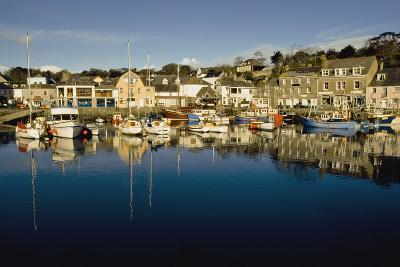 Padstow Marina Reflecting in Water-Design Pics Inc-Photographic Print