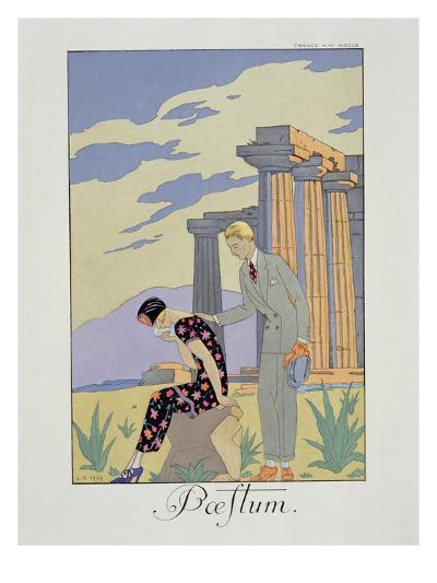 Paestum, 1924 (Pochoir Print)-Georges Barbier-Giclee Print