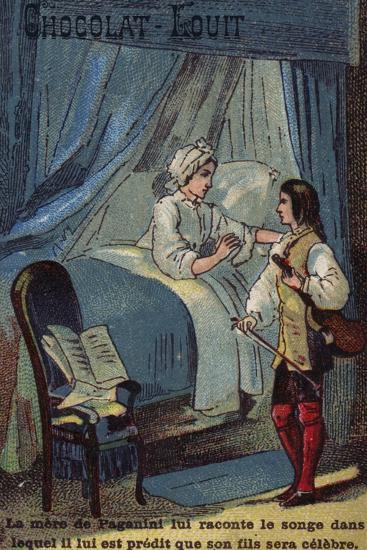 Paganini's Mother Recounting Her Dream in Which it Was Predicted That He Would Become Famous--Giclee Print