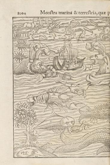 Page 1004 from 'Cosmographiae Universalis' by Sebastian Muenster, Basel, 1572--Giclee Print
