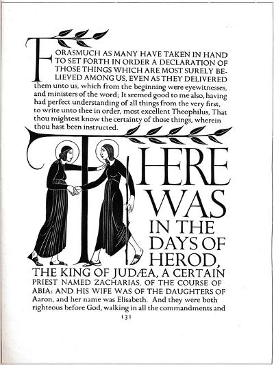 Page Decoration from the Four Gospels, 1931-Eric Gill-Giclee Print