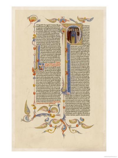Page from a 14th Century Italian Bible--Giclee Print