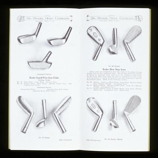 Page from a golf equipment catalogue, c1920-c1960-Unknown-Giclee Print