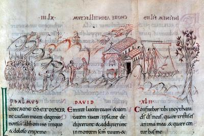 Page from a Psalter, First Half of 11th Century--Giclee Print