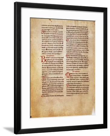 Page from Canzoniere-Jacopo Da Lentini-Framed Giclee Print