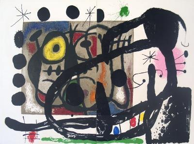 Page from Derriere le Miroir, no. 151-152-Joan Miro-Serigraph