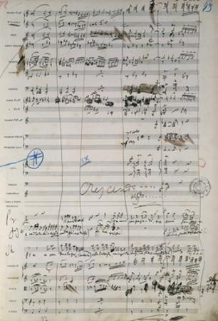 Page from Original Score of Madame Butterfly, Opera by Giacomo Puccini