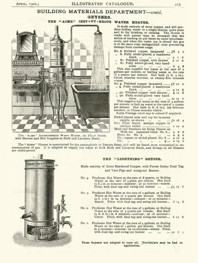 Page from the Army and Navy Catalogue, April 1902 Giclee Print by   Art com