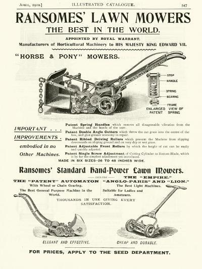 Page from the Army and Navy Catalogue, April 1902--Giclee Print