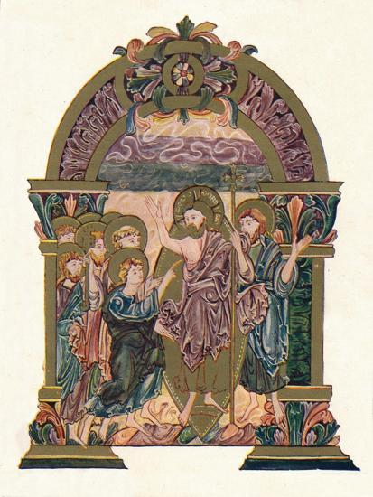 'Page from the Benedictional of St. Ethelwold', c970, (1902)-Unknown-Giclee Print
