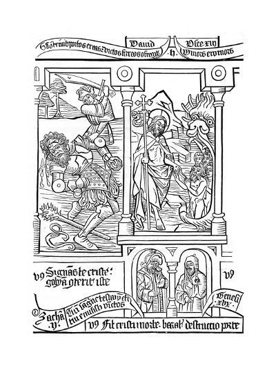 Page from the Biblia Pauperum, 15th Century--Giclee Print