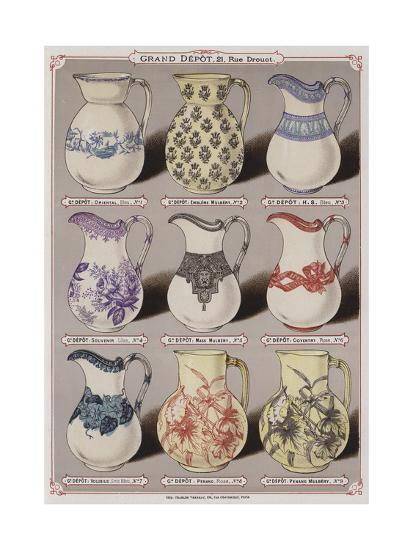 Page from the Catalogue of the Grand Depot De Porcelaines, Faiences Et Verreries--Giclee Print