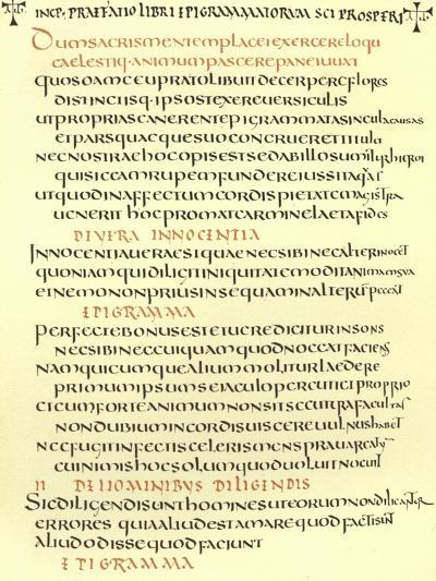 Page from the Epigrams of St Prosper--Giclee Print