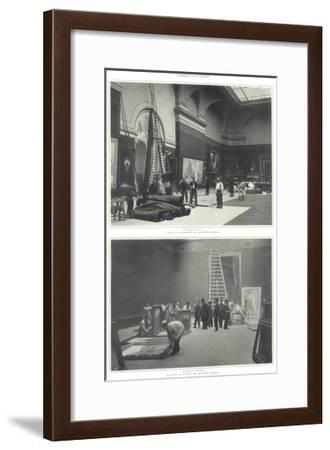 Page from the Figaro Illustré Showing the Hanging of the Salon Des Artistes Francais--Framed Giclee Print
