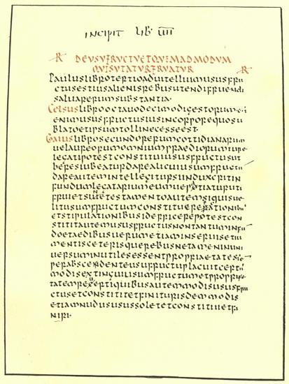 Page from the Pandects of Justinian--Giclee Print