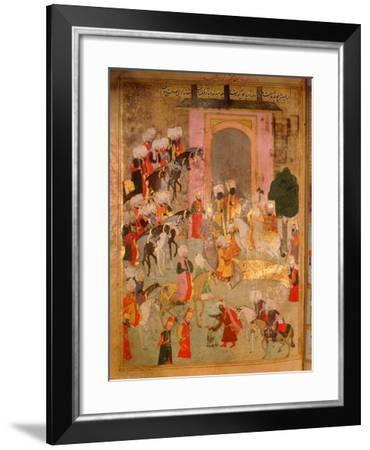 Page from the Sahansahname, a Chronicle of Ottoman Sultans, Written by Loqman, Probably…--Framed Giclee Print