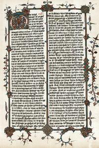 Page from Wycliffe's Translation of the Bible into English, C1400