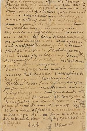 Page of a Letter from Vincent to His Brother Theo, Executed in Arles, 1888-Vincent van Gogh-Giclee Print