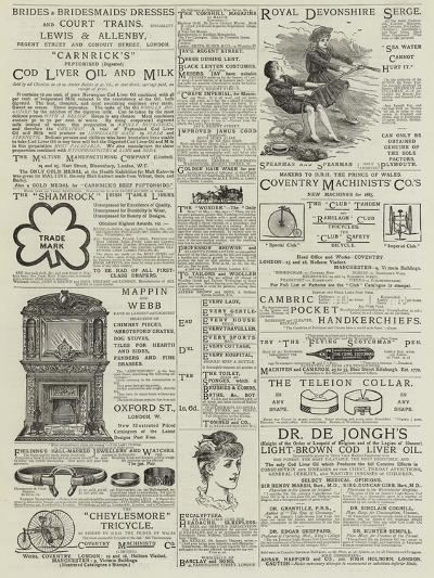 Page of Advertisements--Giclee Print