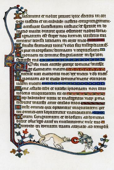 Page of Decorated Text, 1284-1316--Giclee Print