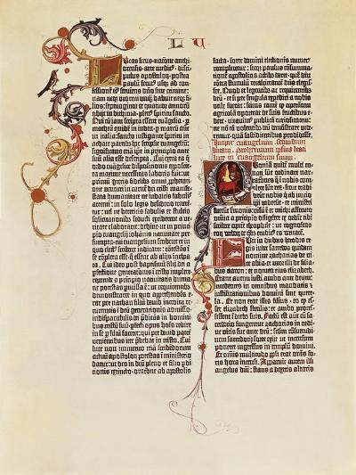 Page of the Bible of 42 Lines--Giclee Print